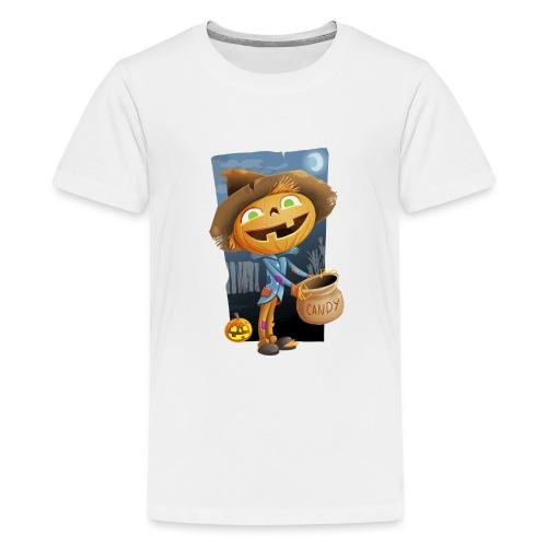 Halloween Citrouille et Friandises - T-shirt Premium Ado