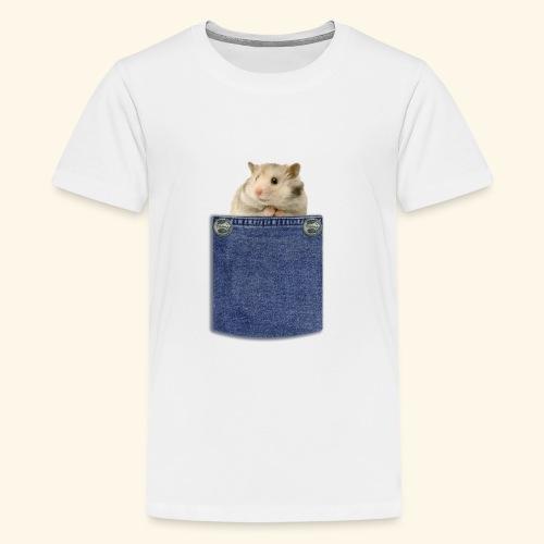 hamster in the poket - Maglietta Premium per ragazzi