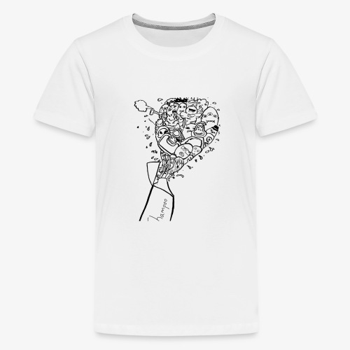 shampoo doodles - Teenage Premium T-Shirt
