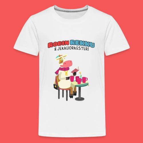 Kossa Lukee - Teinien premium t-paita
