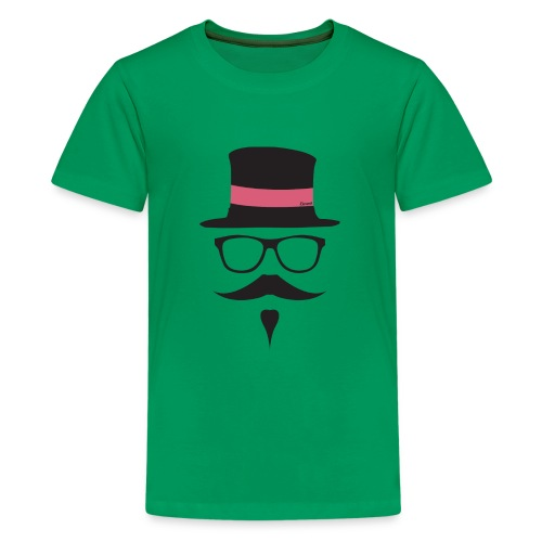 Moustachu Rose (H) - T-shirt Premium Ado