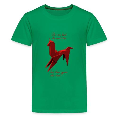 UnicornioBR2 - Camiseta premium adolescente