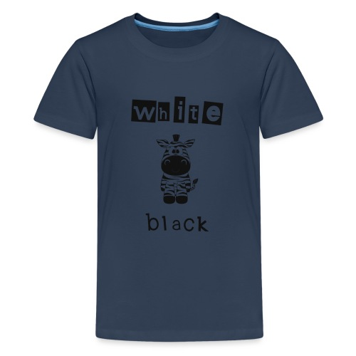 Zebra black or white - Teenager Premium T-Shirt