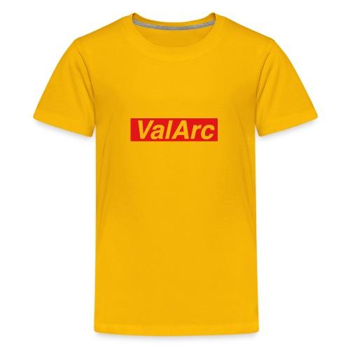 ValArc Text Merch Red Background - T-shirt Premium Ado