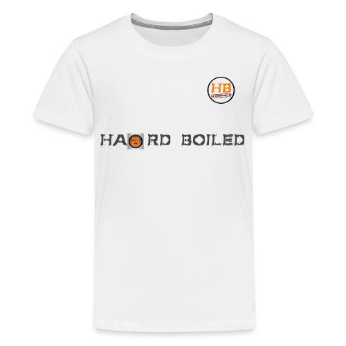 Schrift mit orangenem a - Teenager Premium T-Shirt