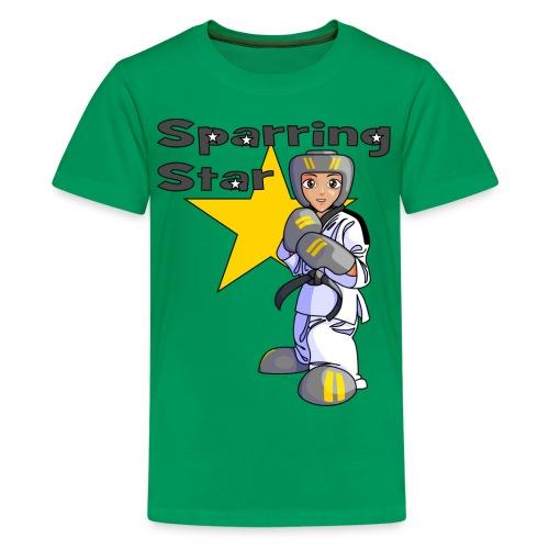 tkdkidblack2 png - Teenage Premium T-Shirt