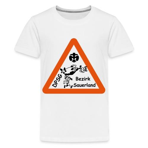 Logo Bezirk Sauerland mit Rahmen - Teenager Premium T-Shirt