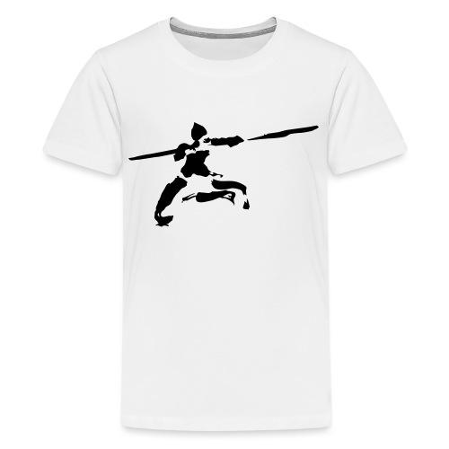 Kungfu stick fighter / ink - Teenage Premium T-Shirt