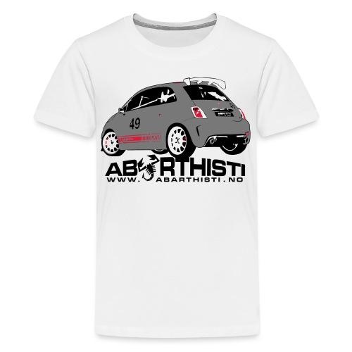 abarthlogored - Premium T-skjorte for tenåringer