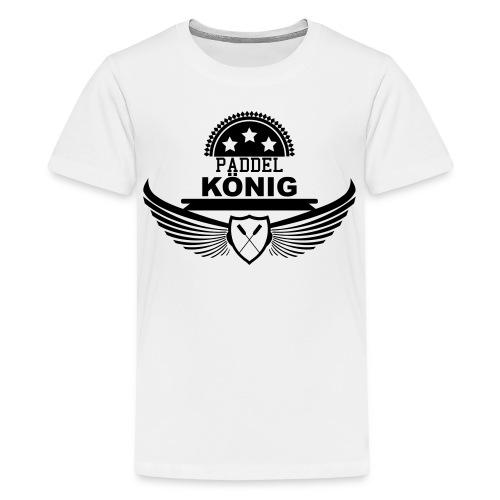 Paddelkönig König Paddeln Kanu Drachenboot 1c - Teenager Premium T-Shirt