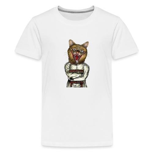 Crazy Cat - T-shirt Premium Ado