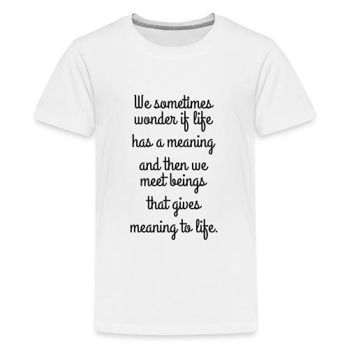 Phrase d'amour en anglais - T-shirt Premium Ado