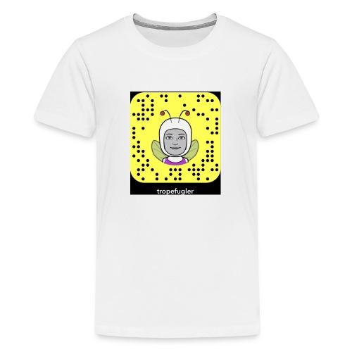 tropefugler snapchat - Premium T-skjorte for tenåringer