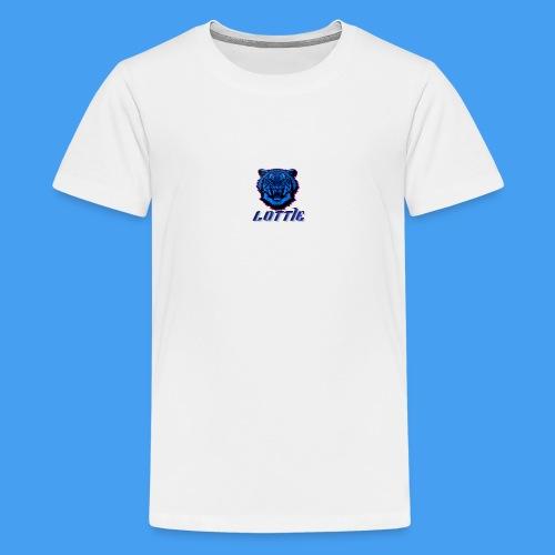 Lotties Blue Tiger Drop! - Teenage Premium T-Shirt