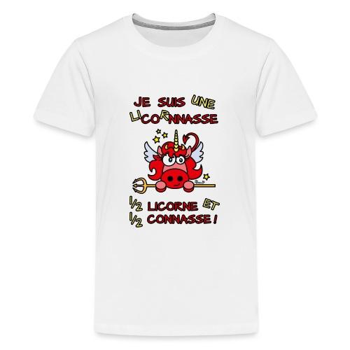LicorNASSE Moitié Licorne Moitié Connasse - T-shirt Premium Ado