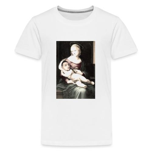 Madonna met middeleeuwse baby. - Teenager Premium T-shirt