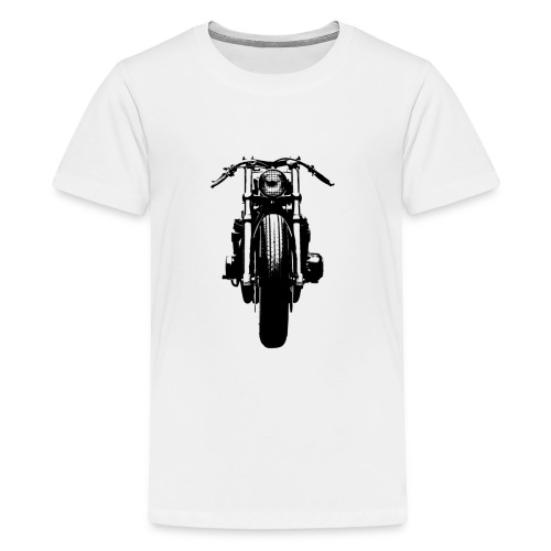 Motorcycle Front - Teenage Premium T-Shirt