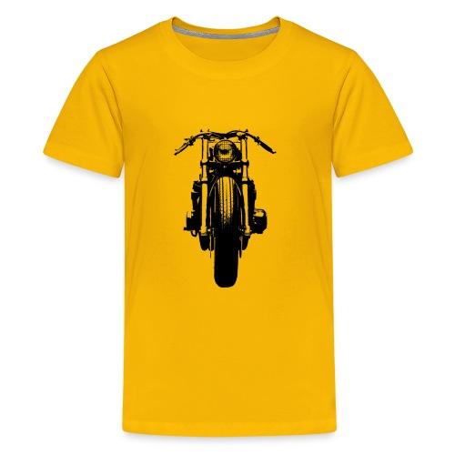 Motorcycle Front - Teenage Premium T-Shirt