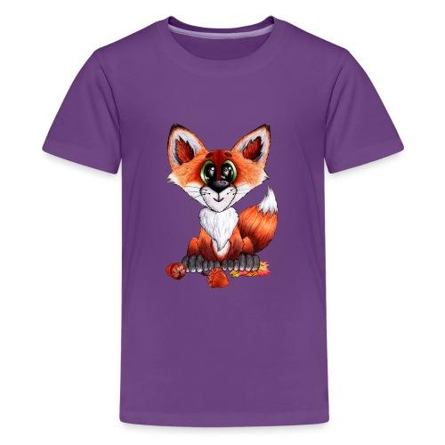 llwynogyn - a little red fox - Teenager premium T-shirt