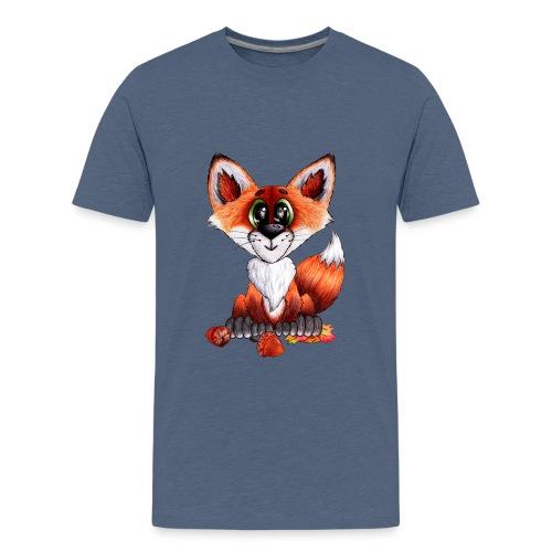 llwynogyn - a little red fox - Teinien premium t-paita