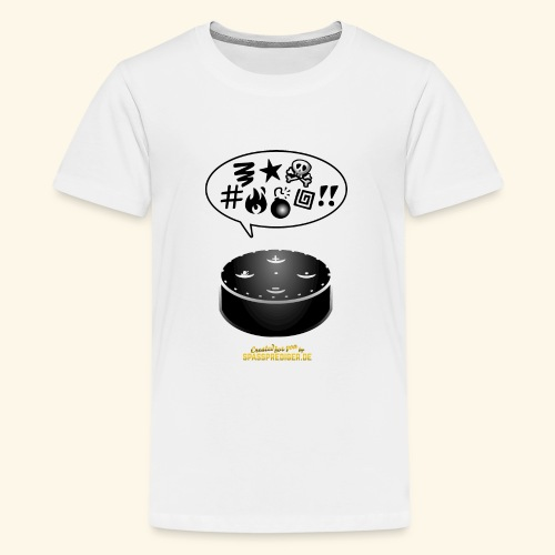 lustiges T-Shirt-Design Alexa flucht - Teenager Premium T-Shirt
