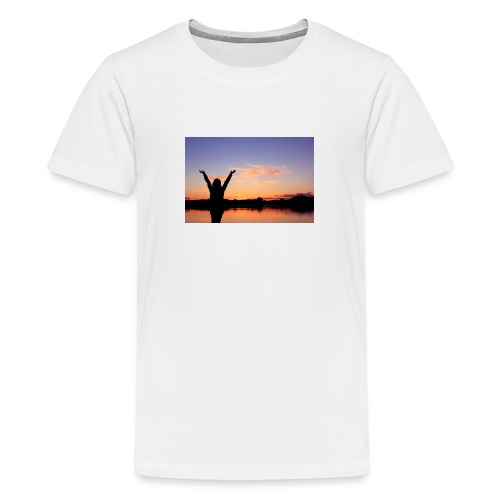 Praise, Vrijheid, Zonsondergang Pruduct - Teenager Premium T-shirt