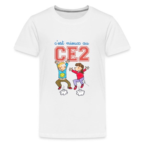cest mieux au ce2 - T-shirt Premium Ado