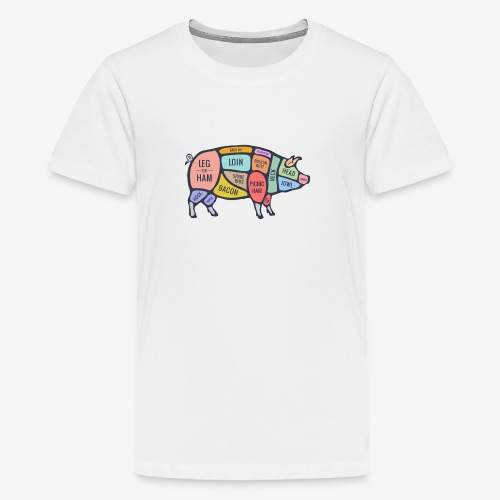 pig diagram - Teenager Premium T-shirt