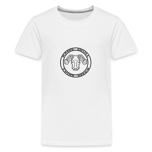 RamSkull Apparell Grey pullover hoodie - Teenage Premium T-Shirt