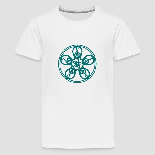 Treble Clef Mandala (teal) - Teenage Premium T-Shirt