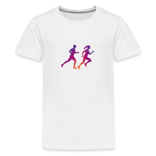 runner sport deporte correr influencer - Camiseta premium adolescente