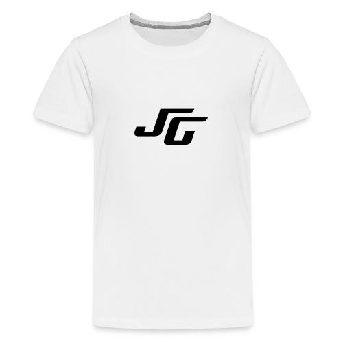 JG Logo schwarz - Teenager Premium T-Shirt