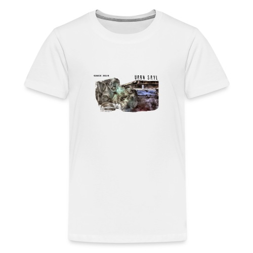 gas mask 2 black - Teenager Premium T-Shirt