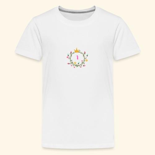 Prinzessin 1. Geburtstag Floral - Teenager Premium T-Shirt