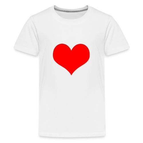rotes Herz - Teenager Premium T-Shirt