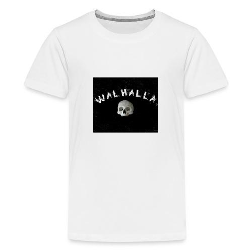 WALHALLA SCULL MOTIV FASHION WIKINGER - Teenager Premium T-Shirt