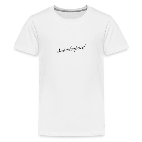snowleopard - schneeleopard/ Wintergeschenk - Teenager Premium T-Shirt