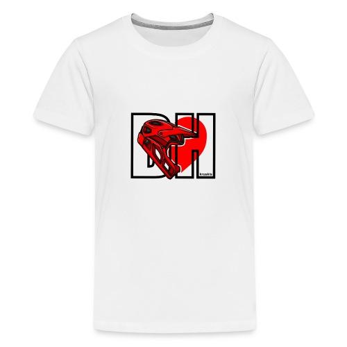 I love Downhill - Camiseta premium adolescente