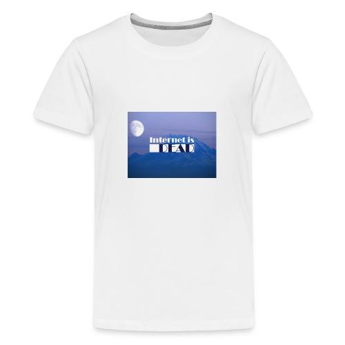 Internet is dead mountain - T-shirt Premium Ado