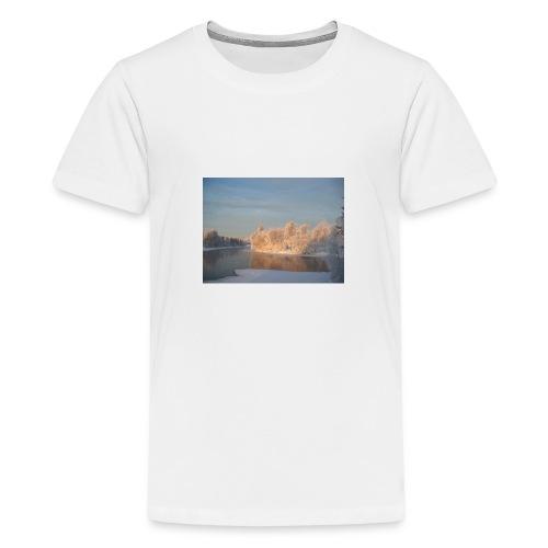 Suomen talvi - Teinien premium t-paita