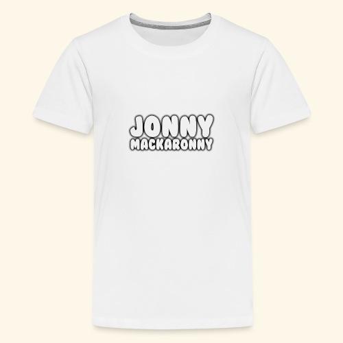 JonnyMackaronny Tekst - Premium T-skjorte for tenåringer