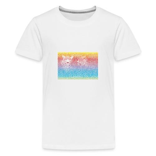 Leopard rainbow pattern background - Teenager Premium T-Shirt