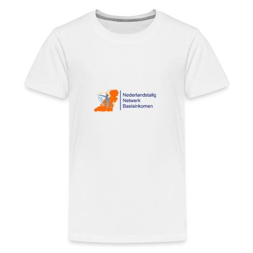 nederlandstalig netwerk basisinkomen - Teenager Premium T-shirt