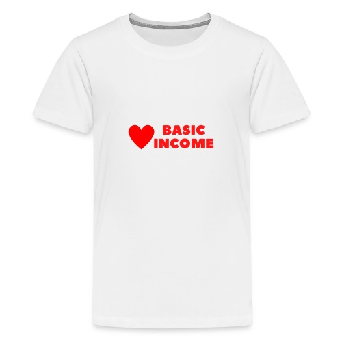 basic income red trans - Teenager Premium T-shirt