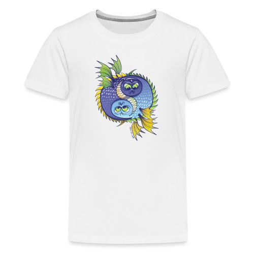 Monstrous Yin Yang - Teenage Premium T-Shirt
