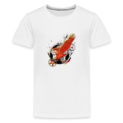 Adler mit Deutschland Stern - Teenager Premium T-Shirt