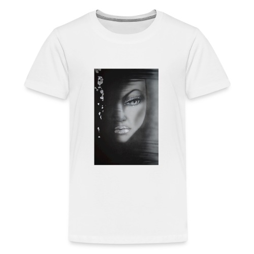 The girl in the sadow - Premium-T-shirt tonåring