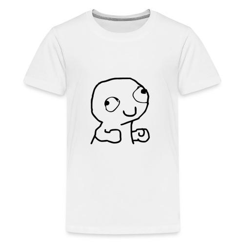 Derpy Trollface - Teenage Premium T-Shirt