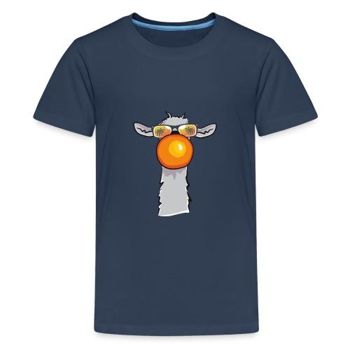 Chewing Llama - Teenager Premium T-Shirt