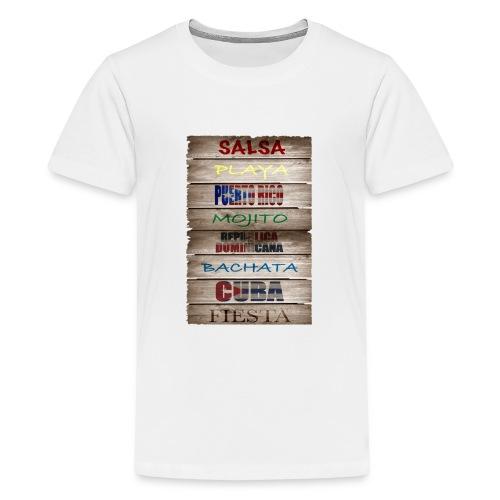 #SalsaEsLaCura panneau bois salsa - T-shirt Premium Ado